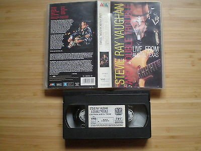 STEVIE RAY VAUGHAN Live From Austin texas VHS-PAL SMV 1995