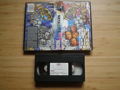 METALLICA A Year & A Half In The Life Of VHS-PAL SPAIN 1991 Heavy Metal