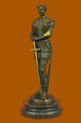 Hand Made Bronze Sculpture  Spartan Gladiator Museum Quality Artwork Figure UG