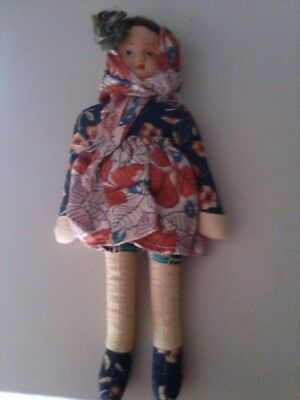 vintage cloth doll stamped POLAND