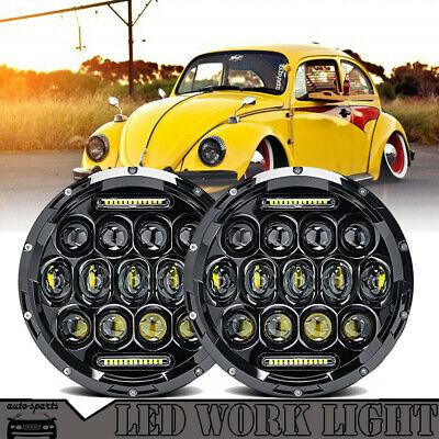 7 inch LED Headlights Upgrade Hi/Low Beam round Kit for VW Beetle Classic