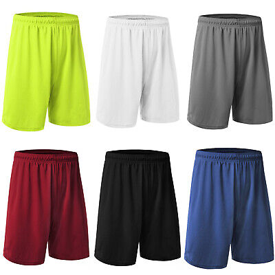 Men Football Shorts Jogging Running Gym Sport Fitness Short Pants Trousers M-4XL