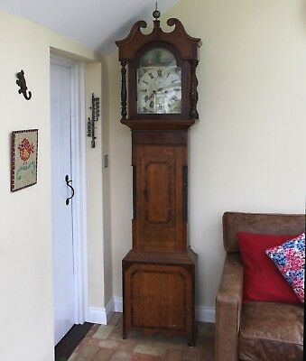 8 - DAY LONGCASE CLOCK - Painted face.