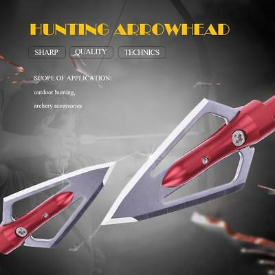 4pcs Stainless Steel Hunting Bow Archery 2 Fixed Blades Arrow Heads Broadheads