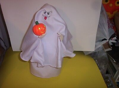 """Vintage Funny Toys Animated Ghost-15""""-Lighted Pumpkin-Spooky Sounds-Very Clean"""