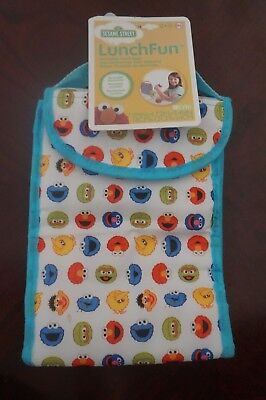 NEW Sesame Street Lunch Fun Insulated Lunch Bag Reusable