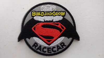 Lowe's Build and Grow SUPERMAN BATMAN RACECAR Iron-On Patch NEW