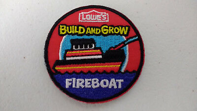 Lowe's Build and Grow FIREBOAT Iron-On Patch NEW