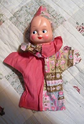 Vintage Baby Doll~PUPPET~Handmade in the 50's -60's,  Beautiful Vinyl face & Fab