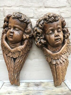 WINTER SALE!A Stunning Pair of Large French Gothic Church Cherubs/Angels/Putti's