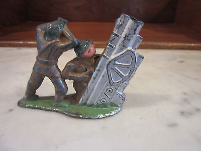 Antique Collectible Lead Toy Soldiers Anti-Aircraft soldier rare Hand Painted