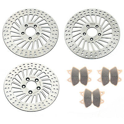 "11.5"" Front Rear Brake Disc Rotor Pads For Harley Sportster XL 883 R XLI 00-03"