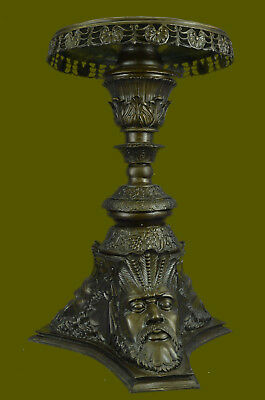 Hand Made Style French Mythology Pedestal and Bronze Mercury Statue Home Décor