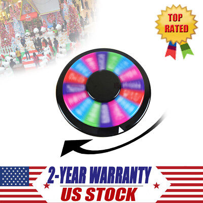 "Editable 12"" Color Prize Wheel of Fortune Spin Game Party Tabletop TradeShow NEW"