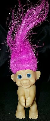 """2.5"""" Unmarked PINK TROLL Doll Hair clip on hug"""