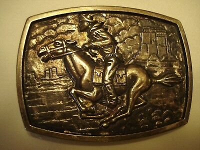 Pony Express Rider Belt Buckle, Numbered, 3 1/4 x 2 3/4