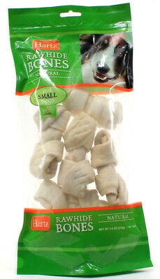 1 Pack Hartz Lasting Rawhide Dog Bones Natural For Small Dogs 6 Pack 7.4 oz