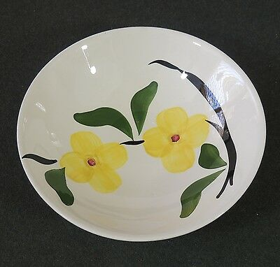 Blue Ridge Southern Potteries Hand Painted Vegetable Pasta Salad Serving Bowl