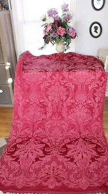 "Stunning French Large Scale Antique Silky Panel Frame Fabric c1910~2yds27""LX49""W"