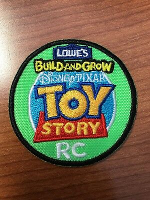 """TOY STORY RC"" LOWES Build and Grow Kids Patch Brand Disney Pixar NEW labeled"