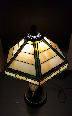 Tiffany style stained glass lamp shade Art deco Mission  arts & crafts