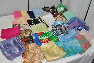 Lot of 39 VINTAGE SCARVES  Burmel  Ben Goodman Silk & others Very Good Condition