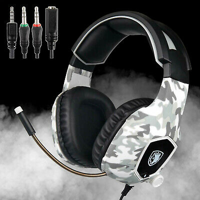 Sades SA903 USB 7.1 Surround Sound Stereo Gaming Headset with Mic For PC Laptop