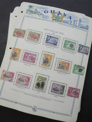EDW1949SELL : GHANA VF Mint collection on album pages. Just about cplt 1957-1979