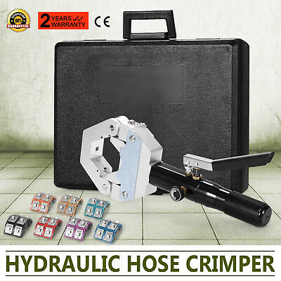 Hydraulic Hose Crimper Crimping Tool Kit Compressing Air Conditioning AC