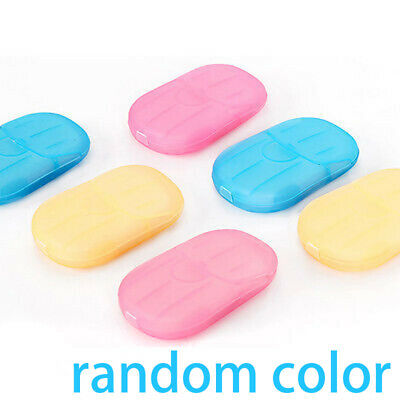 20pcs Travel Portable Soap Paper Washing Hand Bath Slice Sheet Scented Foaming