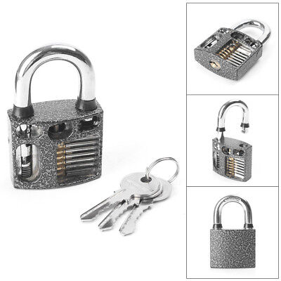 Transparent Cutaway Practice Padlock/Double Sides Lock Fit Locksmith Learning