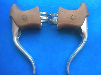 Vintage Tandem Brake Levers,twin Cable,dia Compe-Brown Hoods,l'eroica