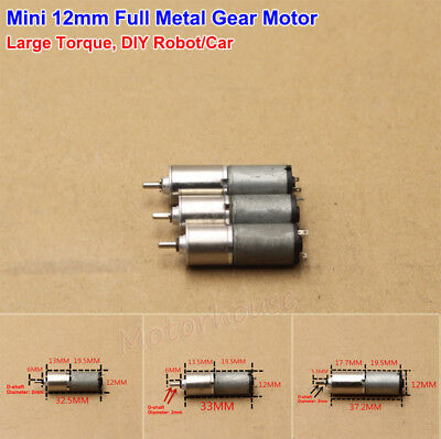 DC 3V Micro Full Metal Gearbox Gear Motor Slow Speed Large Torque For Robot Car