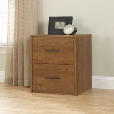 2 Drawer File Cabinet Filing Office Storage Furniture Brown Wood 2Drawer Home Ne