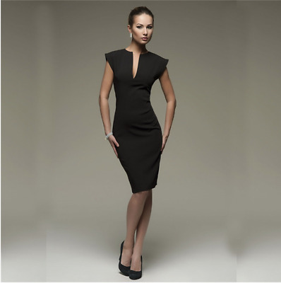 New Fashion Womens Autumn Style Sexy V Collar Self Cultivation Party Dress