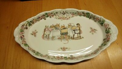 Brambly Hedge Royal Doulton Gebäckplatte Platte oval 25x15 cm Tea Service