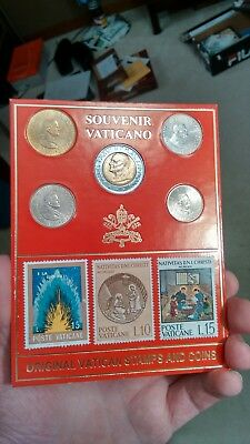 vatican coins and stamps set