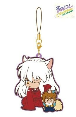 Movic Rumiko Rumic Collection Rubber Strap Charm 4th Season A Inuyasha & Shippo