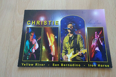 Christie Band Autogramme full signed 10x15 cm Postkarte