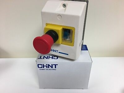Chint Manual Motor Starter Emergency Stop Enclosure Control Panel/Inc 0.5-0.63A