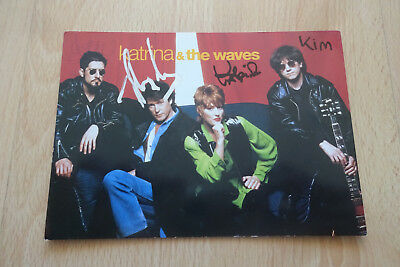 Katrina & The Waves Autogramme full signed 10x15 cm Postkarte