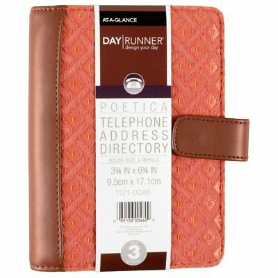 Day Runner 2016 Desk 4-3/4 x 8 5-3 x 8-11/16 Inches Telephone/Address Book