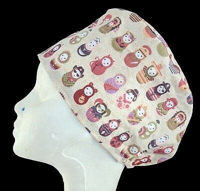 Russian Doll Operating Theatre Scrub Caps/Hats - nurse, ODP, surgeon, vet