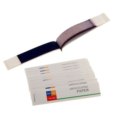 Clear Soft Accurate Dental Articulating Paper Red Blue Thin Thick 12 Strips