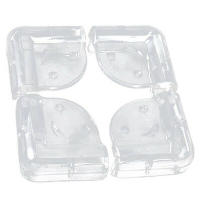 Corner protection, soft plastic, clear, 4 pieces X6O3