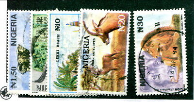 Used Nigeria #615A - 615E (Lot #13939)