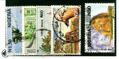 Used Nigeria #615A - 615E (Lot #13941)