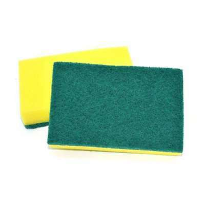 Catering Sponge Scourer 15 x 9 cm (Pack of 10) E1E6