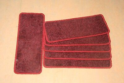 13 Carpet Stair case Treads Jubilee Red Stain Free - Carpet Stair Case Pads