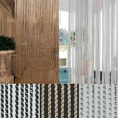 Bling String Sparkle Curtains Patio Fly Screen Fringe Room Divider Door Window
